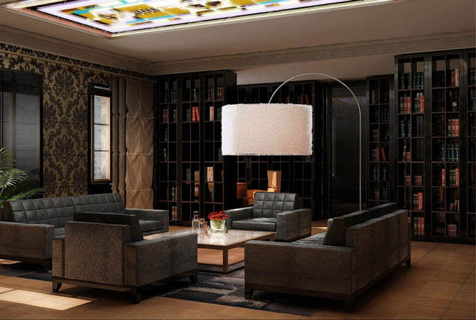 интерьер и дизайн кухни в габаритной квартире