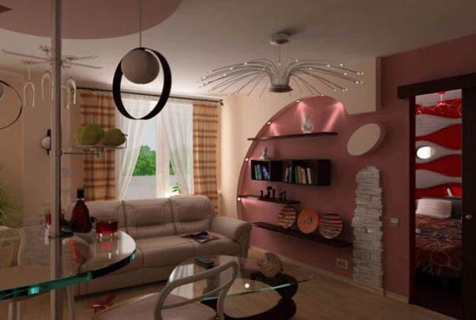 фотогалерея жилая комната интерьер