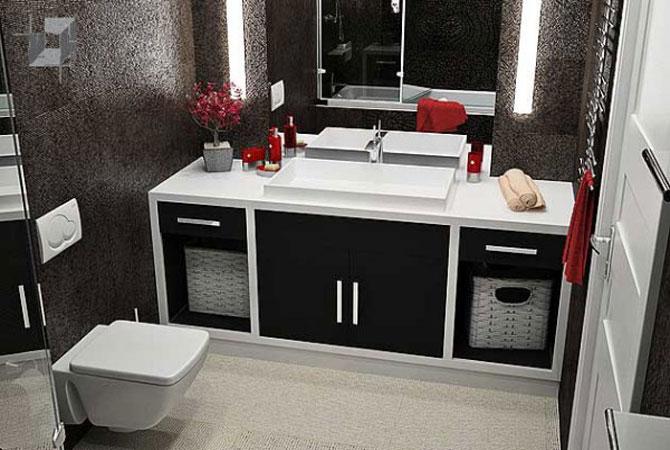 дизайн ванной и туалета в малогабаритной квартире