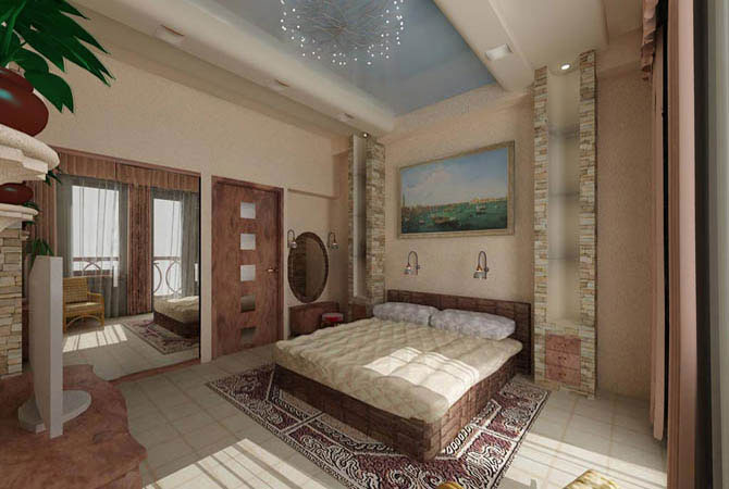 интерьер квартиры в этно стиле