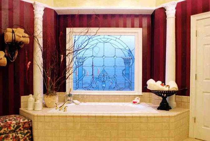 дизайн мозайкой ванной комнаты