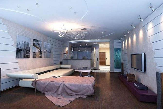 дизайн двухкомнатной квартиры недорогой