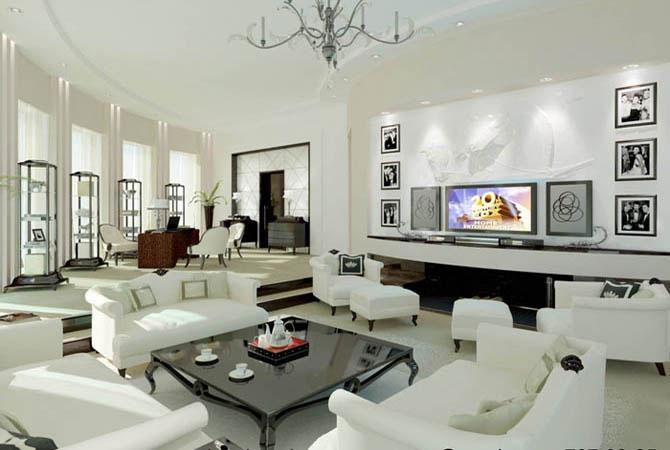 пример дизайна интерьера однокомнатной квартиры