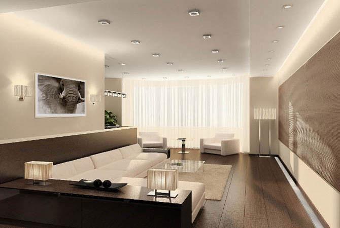 интерьер дизайн однокомнатной квартиры фото